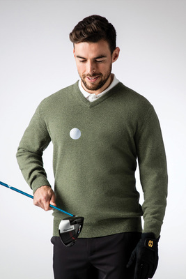 Glenmuir Lomond 100% Lambswool V Neck Golf Sweater