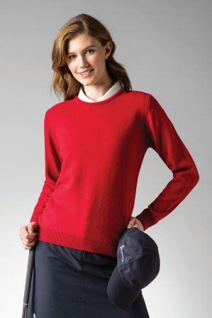 Glenmuir Esther Crew Neck Lambswool Golf Sweater