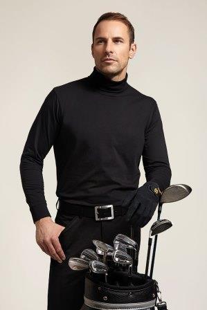 Glenmuir Lewis Cotton Roll Collar Polo Neck Golf Shirt