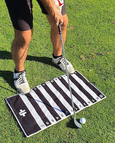 Babouche Golf Swing Alignment Towel