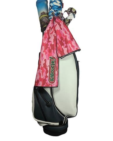 Babouche Pink Camouflage Golf Towel